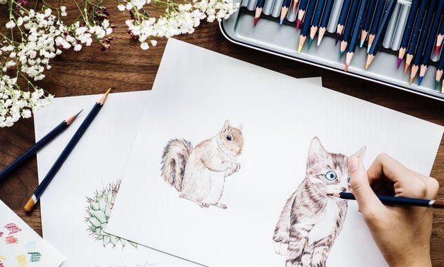 jak narysować wiewiórkę