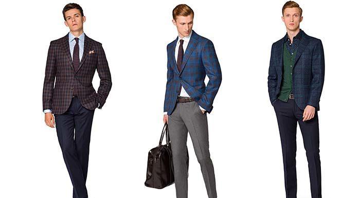 Krata nadal na topie! Modne garnitury i marynarki męskie o najmodniejszym wzorze.